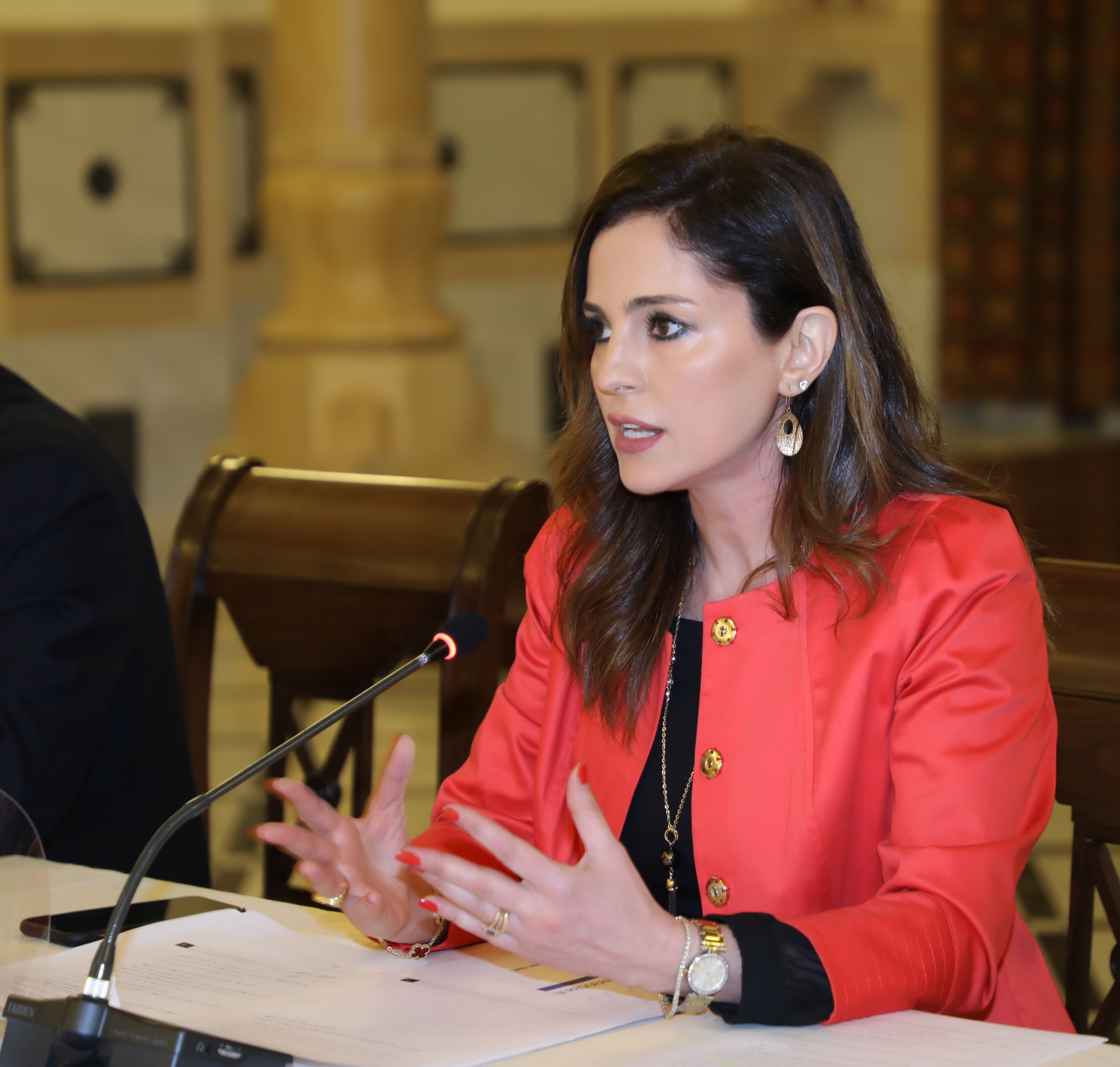 Minister Manal Abdel Samad Attends a Economical Conference at the Grand Serail 4