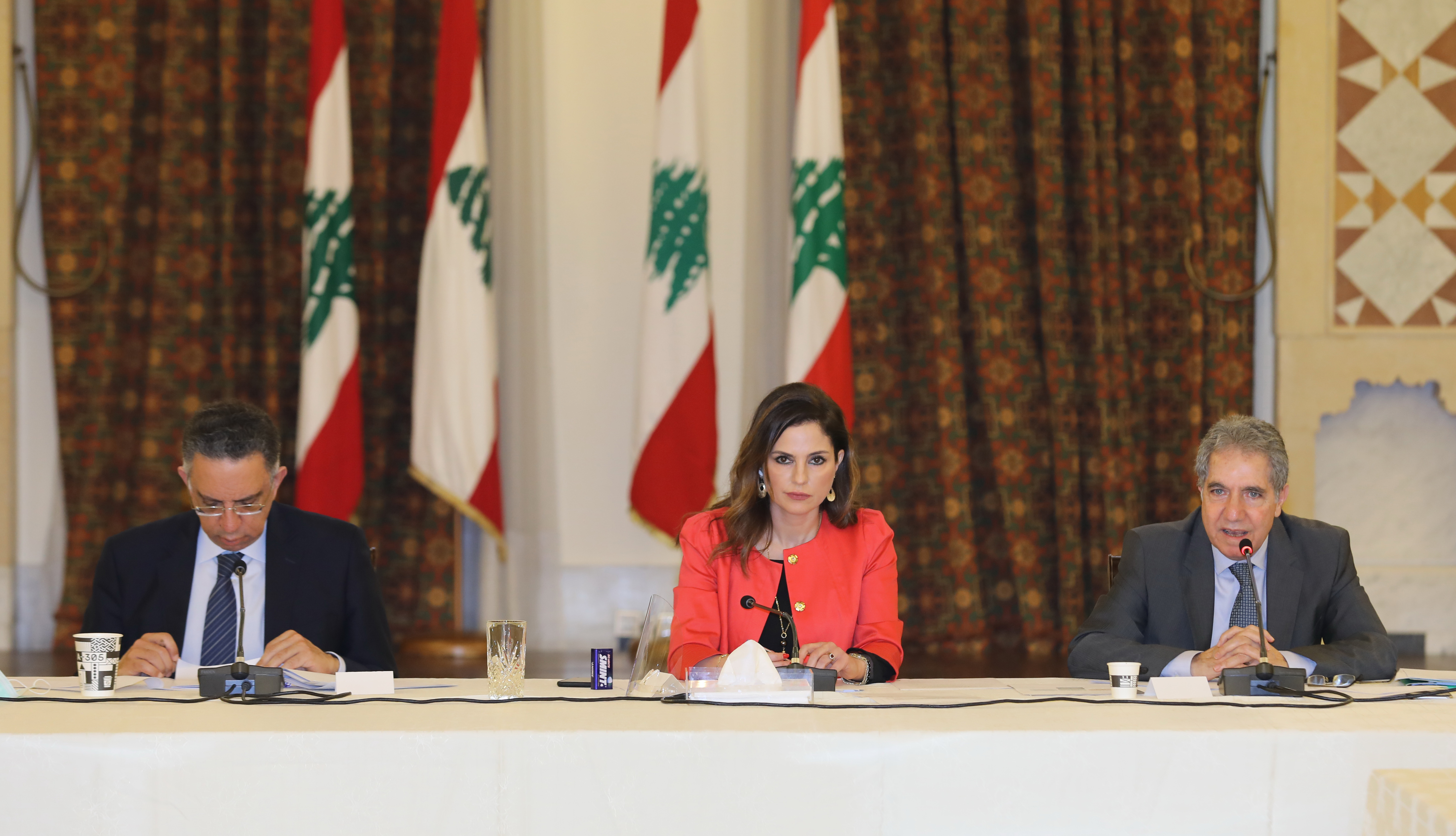Minister Manal Abdel Samad Attends a Economical Conference at the Grand Serail
