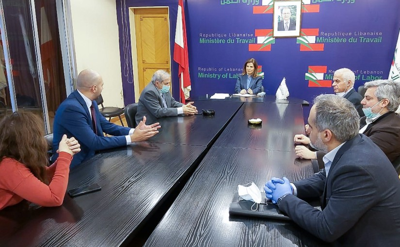 Minister Lamya Yamine meets a Delegation from Pharmacy Syndicate