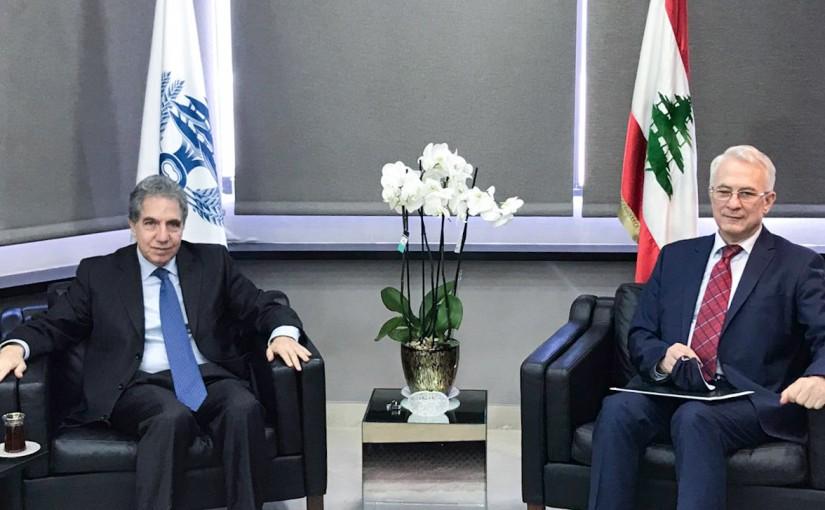 Minister Ghazi Wazni meets Bulgarian Ambassador