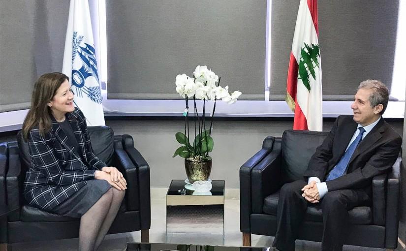 Minister Ghazi Wazni meets US Ambassador