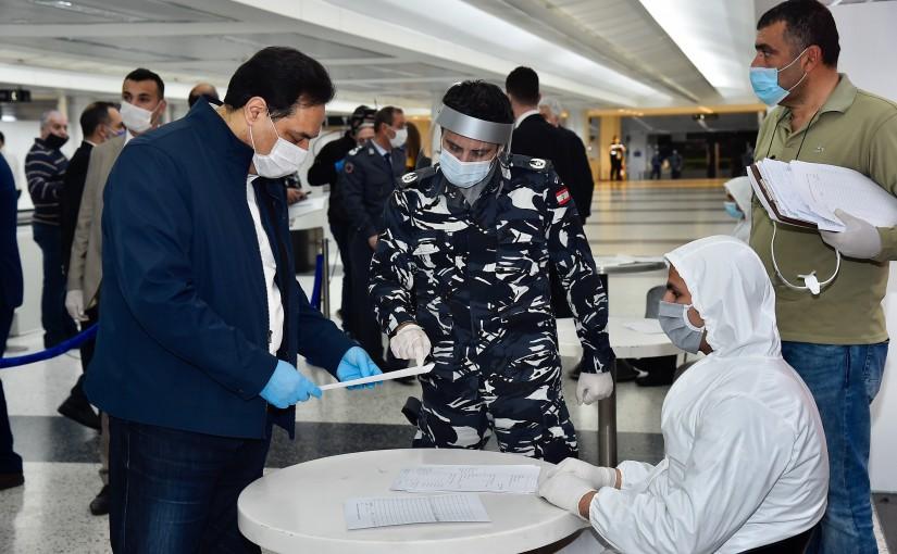 Tour for Pr Minister Hassan Diab at Rafic Hariri Airport