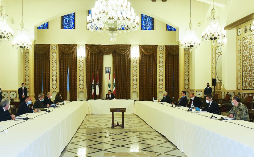 Pr Minister Hassan Diab Heading the Foreign Committee