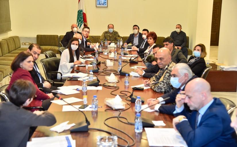 Meeting for Coronavirus Committee at Grand Serail