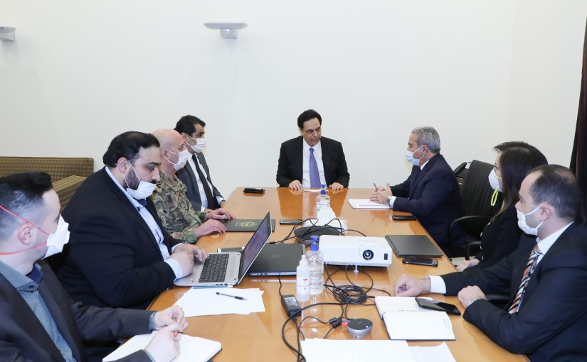 Pr Minister Hassan Diab Heading a Social Affairs Committee