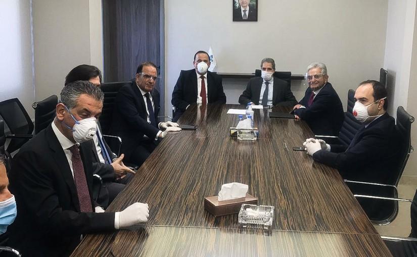 Minister Ghazi Wazni meets a Delegation from Banks Association