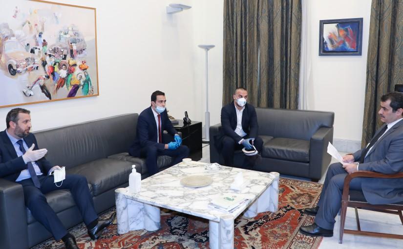 Mr Khodor Taleb meets a Delegation from Lebanese Notaries.