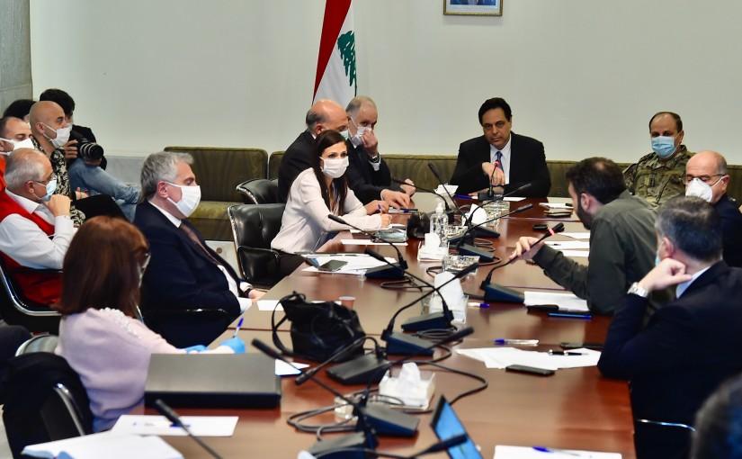 Pr Minister Hassan Diab Heading the Corona Virus Committee