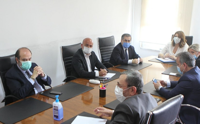 Minister Marie Claude Najem meets a Delegation from Lebanese MP