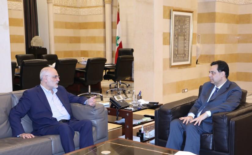 Pr Minister Hassan Diab meets Mr Ali Hassan Khalil