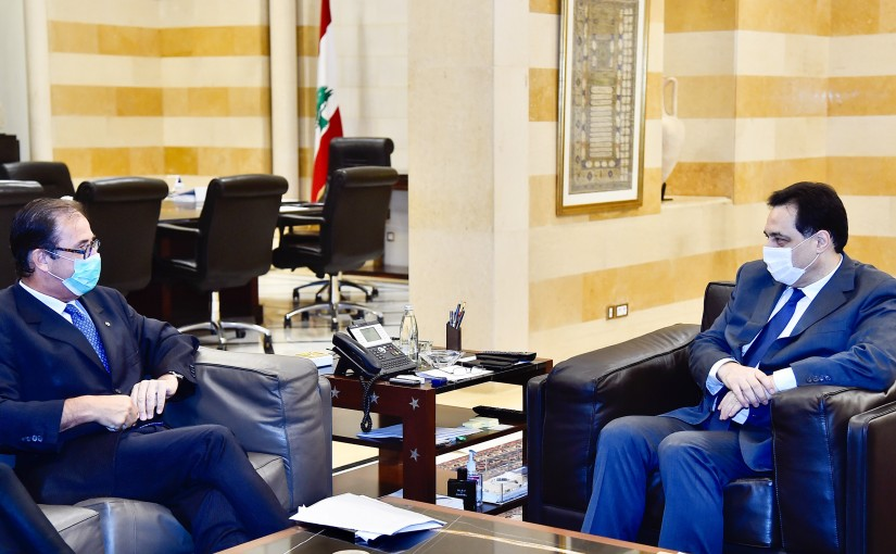 Pr Minister Hassan Diab meets French Ambassador