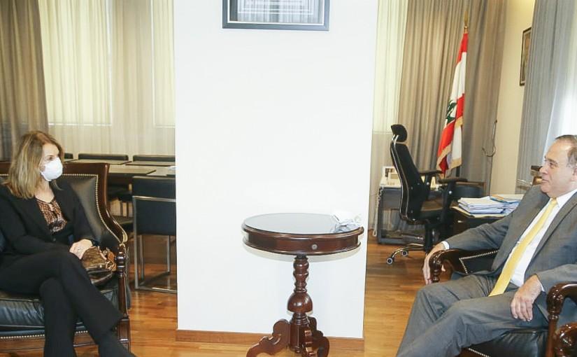 Minister Imad Habalah meets Italian Ambassador