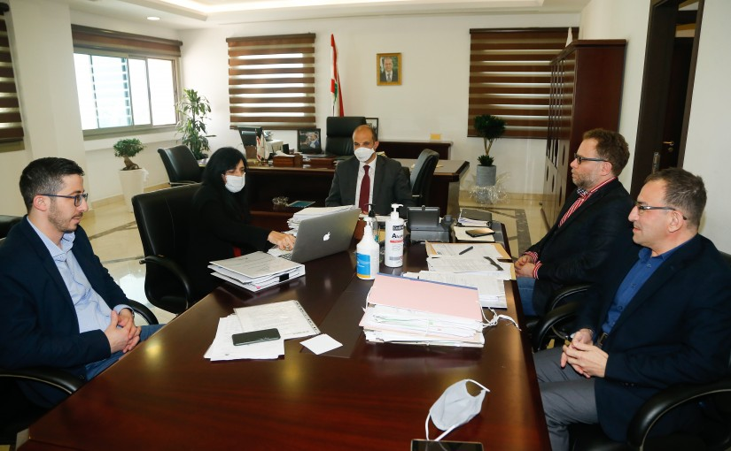 Minister Hassan Hamad meets Mrs Lina Ouwaydat with a Delegation