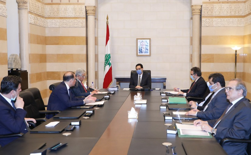 Pr Minister Hassan Diab meets Mr Selim Sfeir with a Delegation