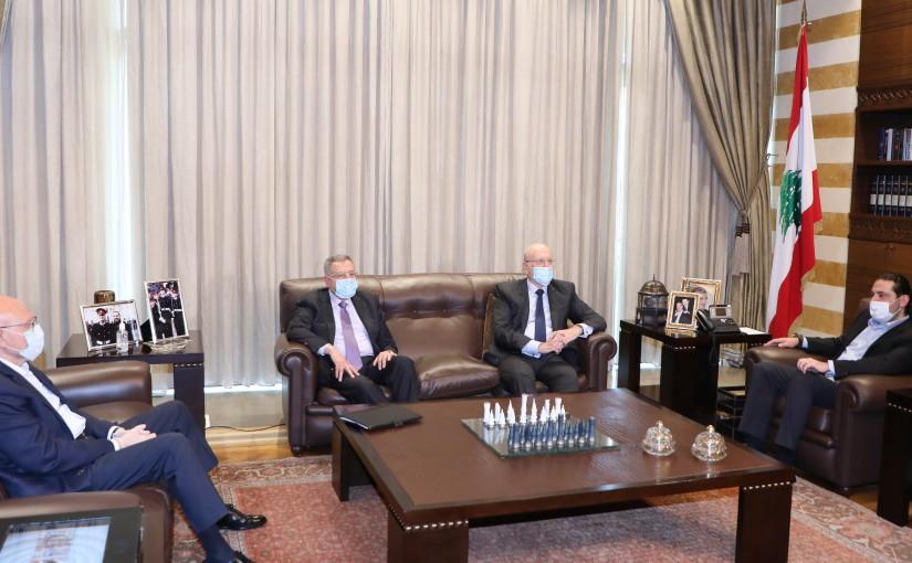 Former Pr Minister Saad Hariri meets a Delegation from Formers Pr Minister