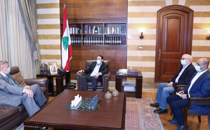 Former Pr Minister Saad Hariri meets Mr Yan Kobish