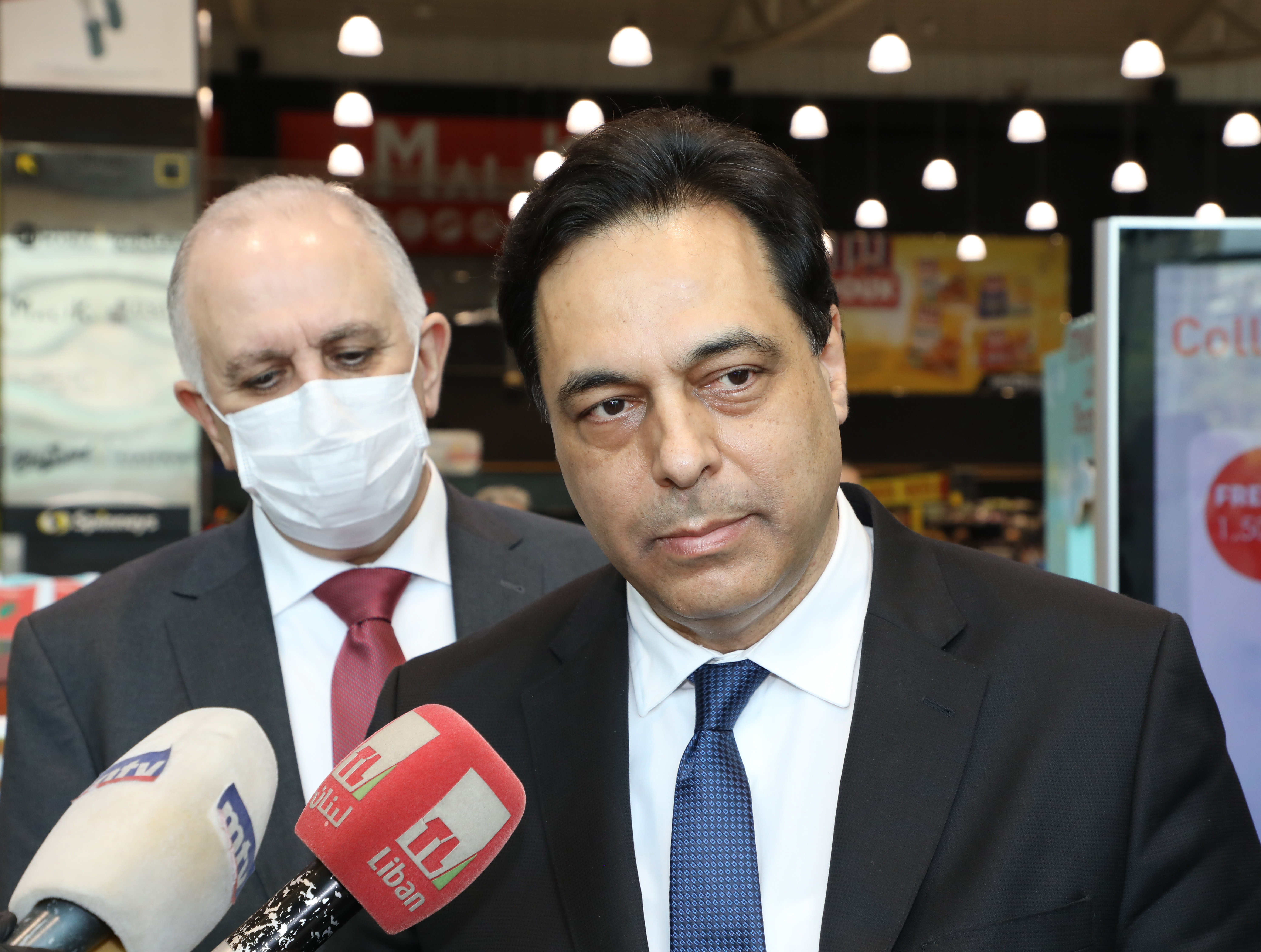 Pr Minister Hassan Diab Visits Spinneys Store