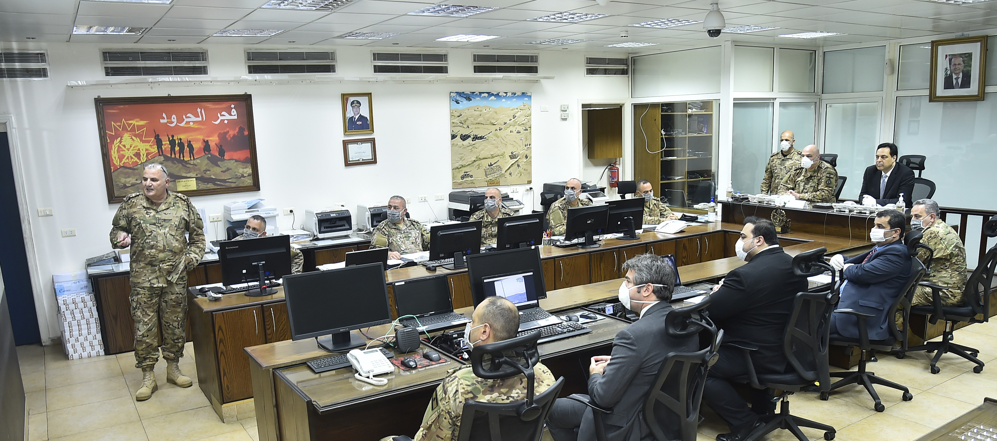 Pr Minister Hassan Diab at the Ministry of Defence 1