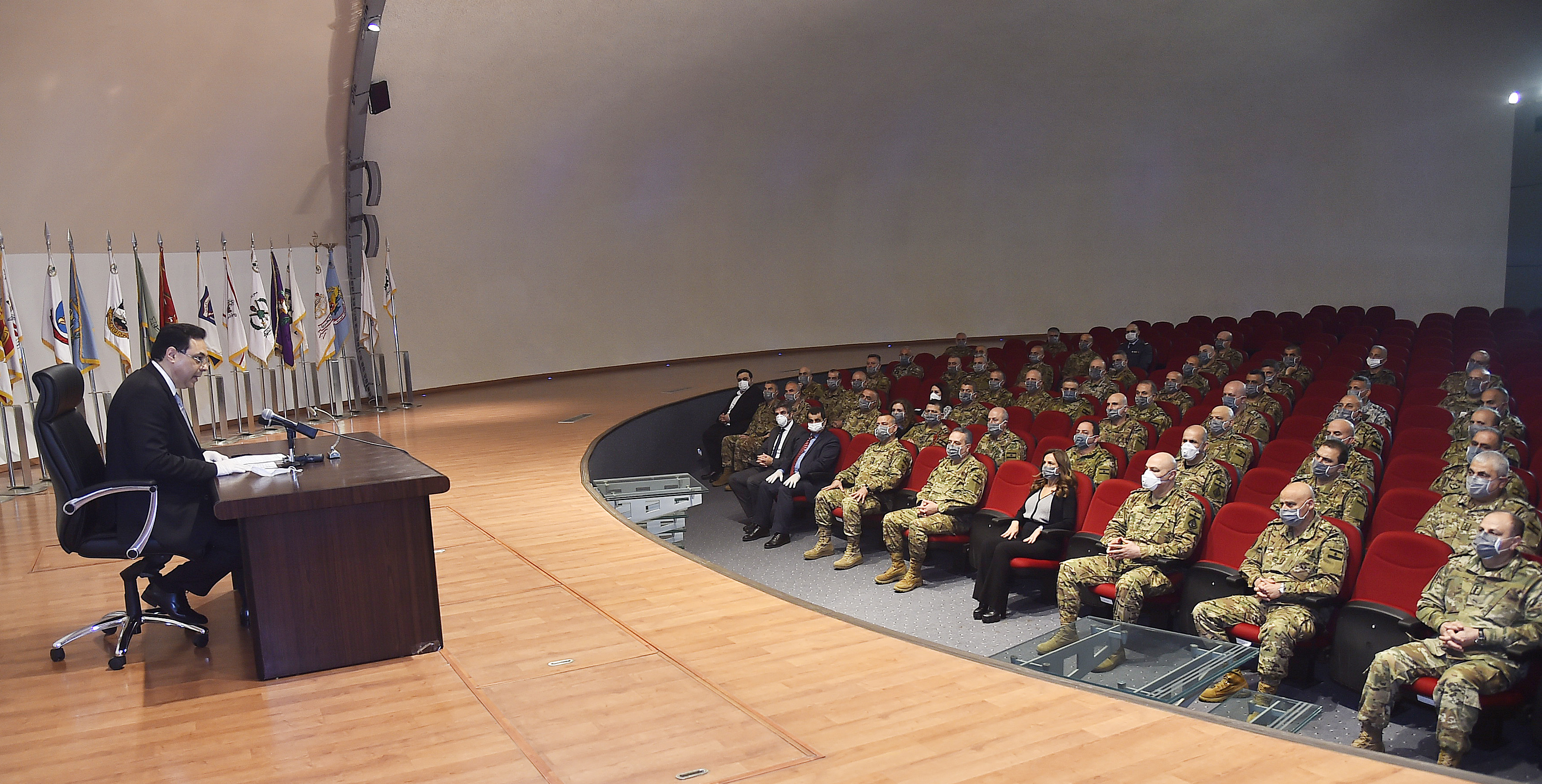 Pr Minister Hassan Diab at the Ministry of Defence 5