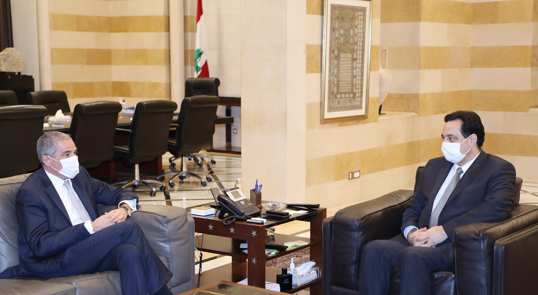 Pr Minister Hassan Diab meets European Ambassador