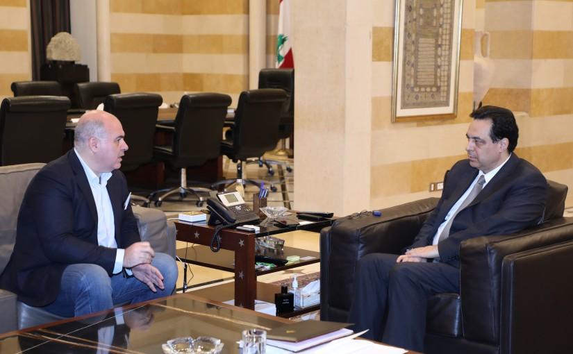 Pr Minister Hassan Diab meets MP Alexendre Matousian