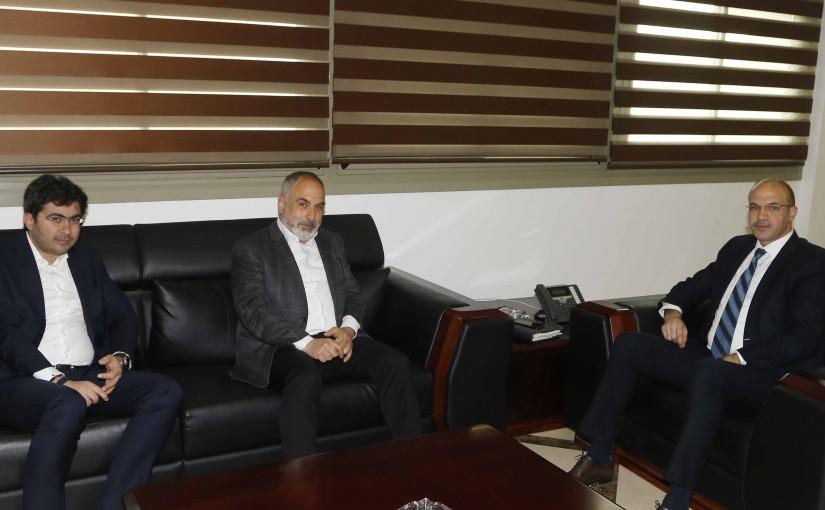 Minister Hassan Hamad meets MP Ziad Aswad
