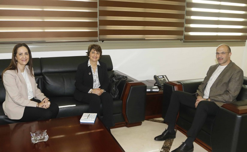 Minister Hassan Diab meets a Delegation from World Health Organisation