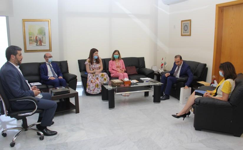 Minister Abass Morthada meets Italian Ambassador