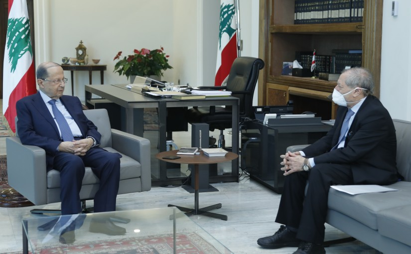 President Michel Aoun Meets Head of The National Audiovisual Council Abdel Hadi Mahfouz