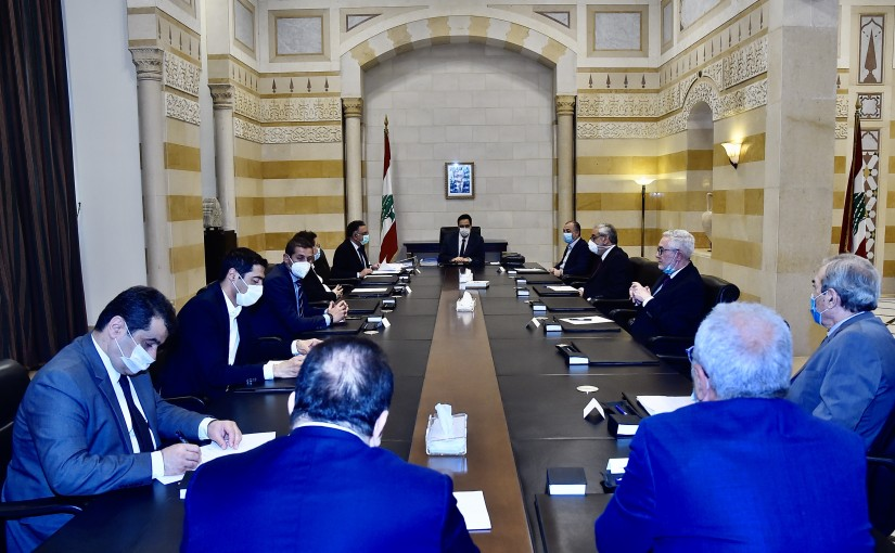 Pr Minister Hassan Diab meets a Delegation from Meten MPs