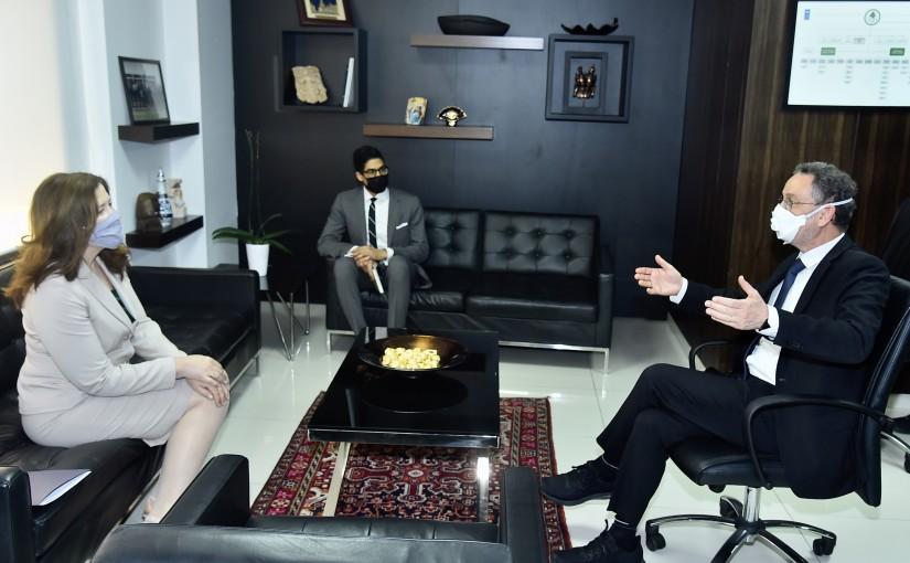 Minister Raoul Nehme meets US Ambassador