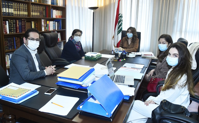 Minister Marie Claude Najem meets a Delegation from UNDP
