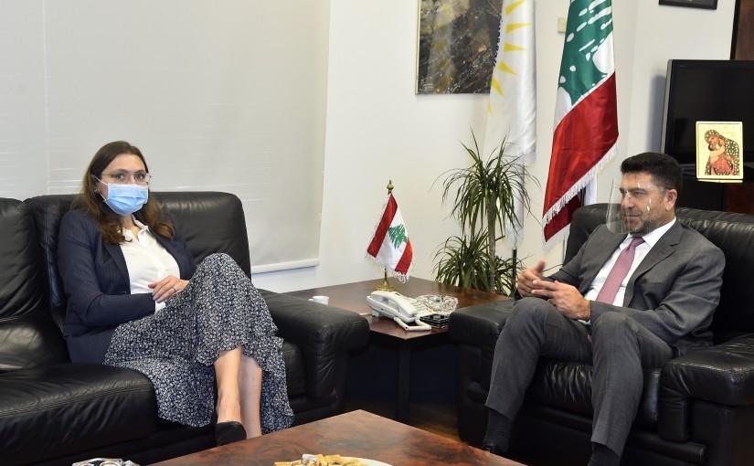 Minister Raymond Ghagar meets Denmark Ambassador