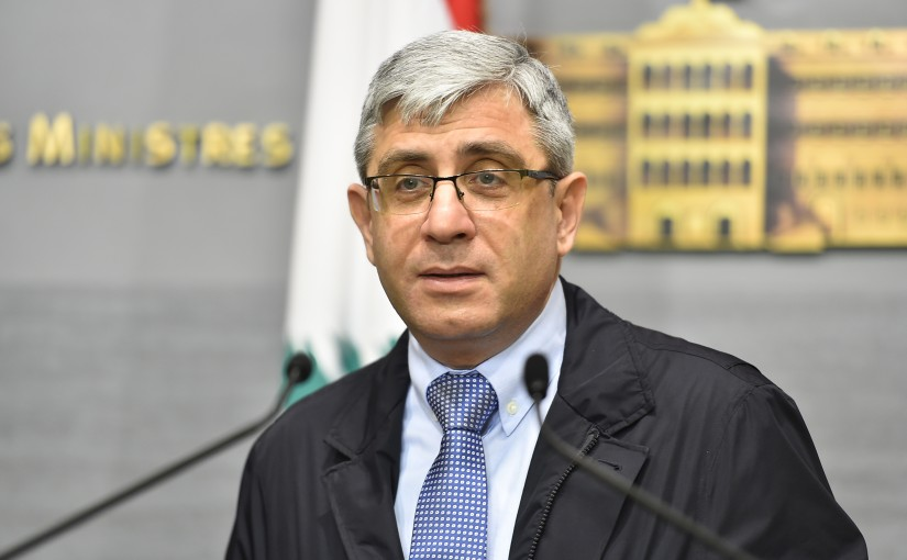 Press Conference for Minister Tarek Mazjoub
