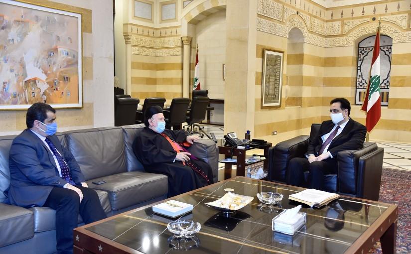 Pr Minister Hassan Diab meets Bishop Boulos Mattar