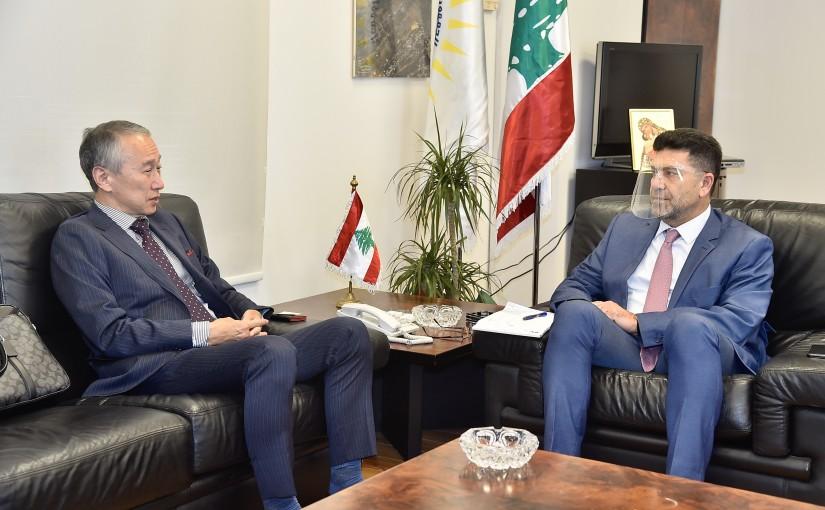 Minister Raymond Ghajjar meets Japanese Ambassador