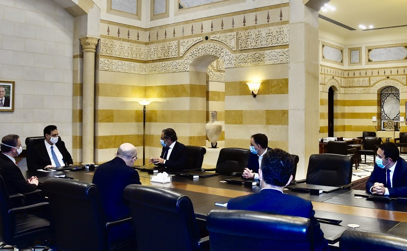 Pr Minister Hassan Diab meets a Delegation from Food Traders