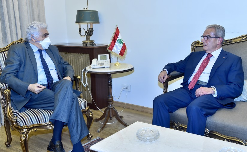 Minister Nassif Hiti meets Former Minister Wadih Khazen