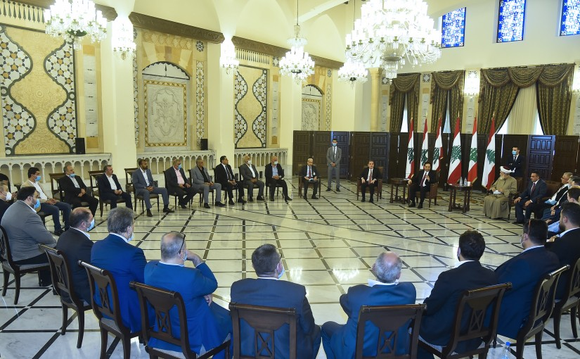 Pr Minister Hassan Diab meets a Delegation from North Families