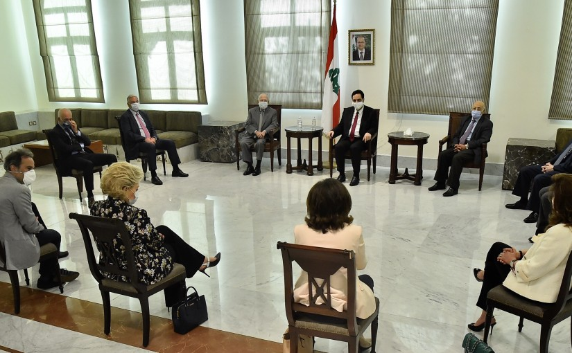 Pr Minister Hassan Diab meets a Delegation from Orphanage Association