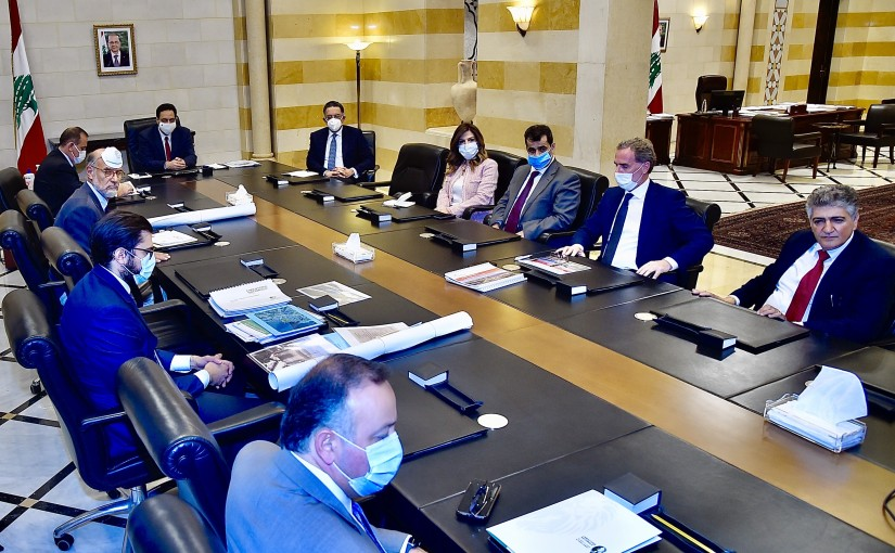 Pr Minister Hassan Diab meets Minister Demyanos Latar with a Delegation