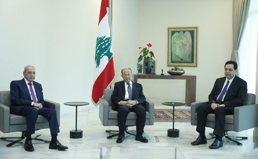 President Michel Aoun Meets House Speaker Nabih Berri & Pr Minister Hassan Diab