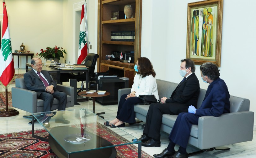 President Michel Aoun Meets a Delegation From Baalbek International Festivals Committee