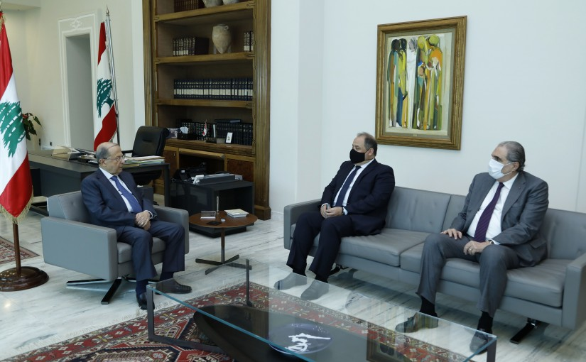 President Michel Aoun Meets President of the Economic and Social Council Charles Arbid & Former Minister Selim Jreysati