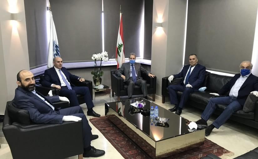 Minister Ghazi Wazni meets Mr George Meemari