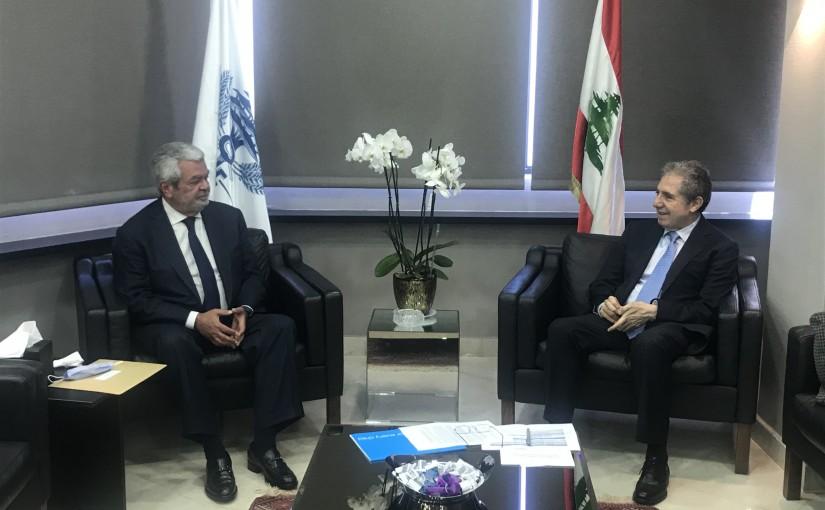 Minister Ghazi Wazni meets Mr Pierre Abou Chakra