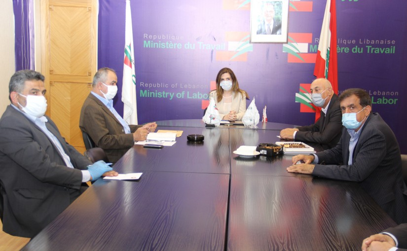 Minister Lamya Yamine meets a Delegation from Lebanese Labor