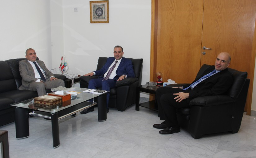 Minister Abass Morthada meets Mr Badri Daher