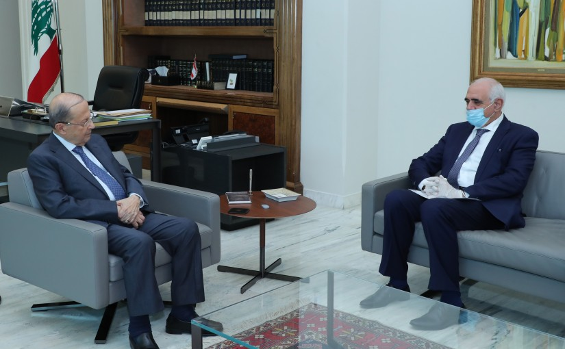 President Michel Aoun Meets Head of Editors Syndicate Joseph Saifi