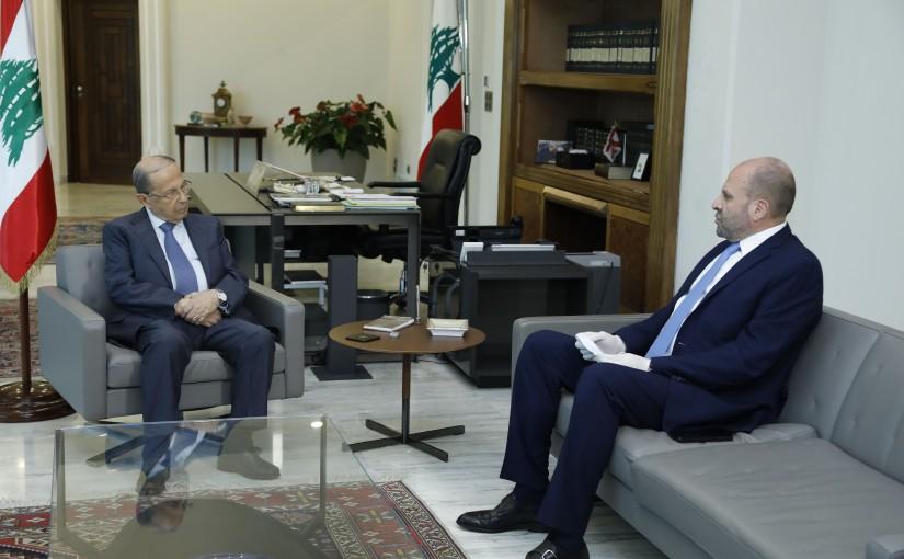 President Michel Aoun Meets MP Selim Aoun